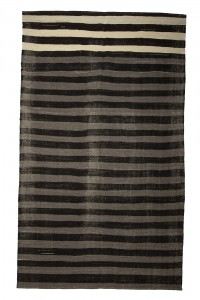 Goat Hair Rug Gray And Black Large Turkish Kilim Rug 8x12 Feet  227,380