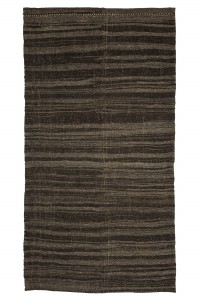 Goat Hair Rug Gray And Brown Kilim Rug 6x11 Feet  177,332