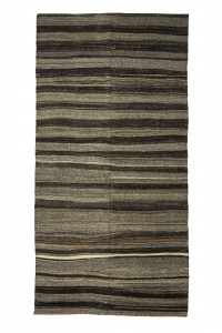 Goat Hair Rug Gray And Brown Turkish Kilim Rug 5x10 Feet  157,307