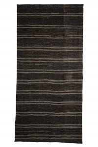 Goat Hair Rug Gray And Brown Turkish Kilim Rug 6x12 Feet  173,356