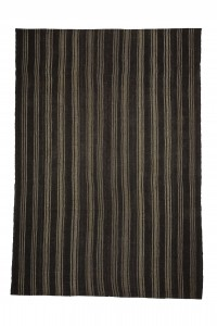 Goat Hair Rug Gray And Brown Turkish Kilim Rug 7x10 Feet  214,303