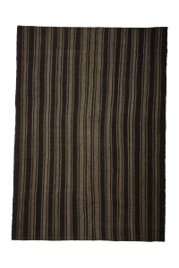 Goat Hair Rug Gray And Brown Turkish Kilim Rug 7x9 Feet  200,283