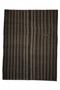 Goat Hair Rug Gray And Brown Turkish Kilim Rug 8x10 Feet  234,302