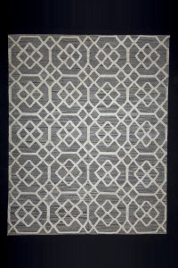 Turkish Natural Rug Gray And White Modern Pattern Turkish Kilim Rug 8x10 Feet  243,302