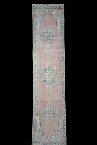 Turkish Rug Runner Hand Knotted Turkish Runner Rug 3x12 Feet 83,358