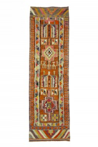 Turkish Rug Runner Handmade Kilim Rug Runner 3x10 Feet 90,296