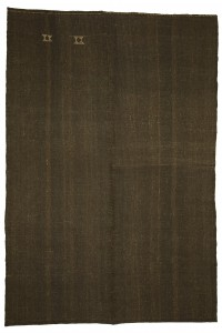 Goat Hair Rug Large Dark Brown Turkish Rug 7x10 Feet 204,305