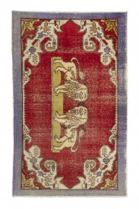 Turkish Carpet Rug Lion Pattern Old Turkish Carpet Rug 4x7 Feet 135,220