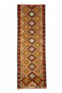 Turkish Rug Runner Living Room Kilim Runner Rug 3x10 Feet 105,308