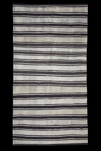 Turkish Natural Rug Long Size Turkish striped Kilim rug 6x11 Feet  176,336