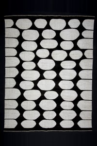 Turkish Natural Rug Modern Black And White Hemp Kilim rug 8x11 Feet  250,326