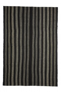 Goat Hair Rug Modern Black And White Turkish Kilim rug 6x9 Feet  182,260