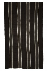 Goat Hair Rug Modern Black And White Turkish Kilim rug 7x12 Feet  215,370