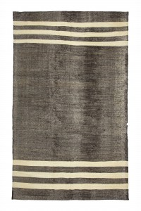 Goat Hair Rug Modern pattern Brown White Turkish Kilim Rug 6x10 Feet  193,316