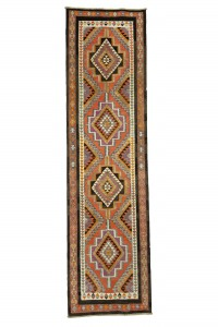Turkish Rug Runner Modern Turkish Kilim Rug Runner 3x12 Feet 95,352