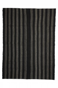 Goat Hair Rug Modern Vintage Striped Turkish Kilim Rug 6x9 Feet  194,260