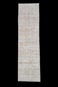 Turkish Rug Runner Muted Oushak Rug Runner 2x8 Feet 70,250