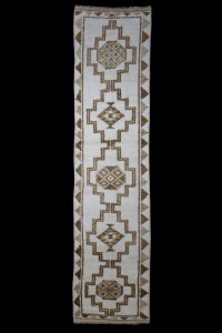 Turkish Rug Runner Natural Carpet Runner 3x11 Feet 79,325
