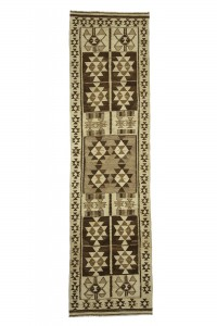 Turkish Rug Runner Natural Kilim Rug Runner 3x11 Feet 92,343