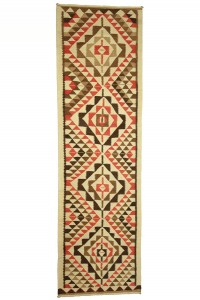 Turkish Rug Runner Natural Turkish Kilim Runner Rug 3x11 Feet 96,327