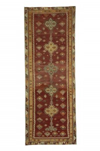 Turkish Rug Runner Old Kilim Runner Rug 4x11 Feet 120,327