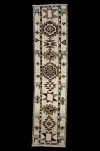 Turkish Rug Runner Organic Carpet Runner 3x12 Feet 93,379