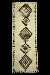 Turkish Rug Runner Organic Kilim Runner Rug 4x11 Feet 123,343