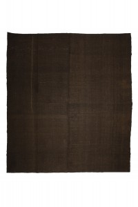 Goat Hair Rug Oversize Brown Turkish Kilim Rug 10x12 Feet  324,366