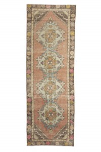 Turkish Rug Runner Pastel Oushak Rug Runner 3x9 Feet 91,264
