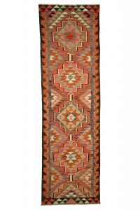Turkish Rug Runner Pink Kilim Rug Runner 3x11 Feet 98,332
