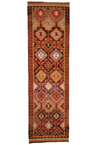 Turkish Rug Runner Pink Kilim Rug Runner 3x12 Feet 104,352