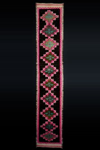 Turkish Rug Runner Pink Turkish Rug Runner 3x14 Feet 80,420