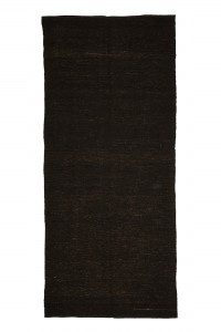 Goat Hair Rug Plain Brown Turkish Kilim Rug 5x12 Feet  157,355