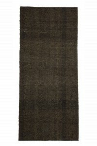 Goat Hair Rug Plain Dark Brown Turkish Goat Hair Kilim Rug 5x11 Feet  143,323