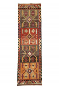 Turkish Rug Runner Purple Kilim Rug Runner 3x11 Feet 96,322