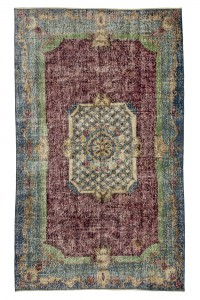Turkish Carpet Rug Red and Green Turkish Carpet Rug 5x8 Feet 142,242