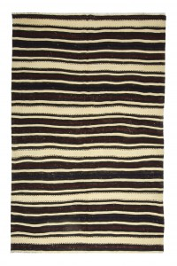Turkish Natural Rug Red Striped Turkish Kilim Rug 5x8 Feet  162,250