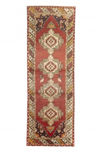 Turkish Rug Runner Red Turkish Oushak Rug 3x10 Feet 98,302