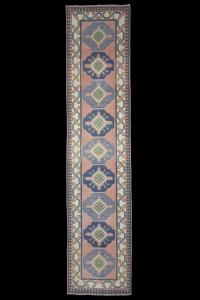 Turkish Rug Runner Salmon Pink Runner 3x11 Feet 75,345