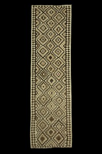 Turkish Rug Runner Small Pattern Natural Kilim Runner 3x11 Feet 96,332