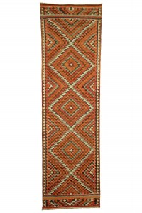 Turkish Rug Runner Small Pattern Turkish Kilim Rug Runner 3x10 94,322