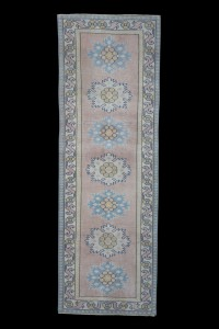 Turkish Rug Runner Soft Color Turkish Runner Rug 3x7 Feet 78,227