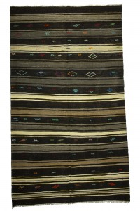 Goat Hair Rug Striped Goat Hair Turkish Kilim Rug 7x12 Feet  212,357