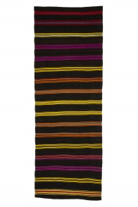 Turkish Rug Runner Striped Kilim Runner Rug 4x11 Feet 114,323