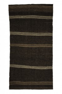 Goat Hair Rug Striped Turkish Kilim Rug 5x10 Feet  163,316