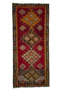 Turkish Rug Runner Stunning Kilim Runner Rug 4x9 Feet 122,274
