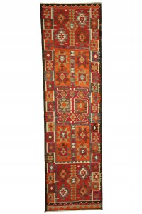 Turkish Rug Runner Tribal Turkish Kilim Rug Runner 3x11 Feet 95,336