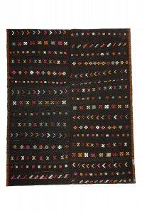 Goat Hair Rug Turkish Brown Kilim Rug 8x9 Feet  230,283