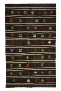 Goat Hair Rug Turkish Goat Hair Woven Kilim Rug 5x9 Feet  160,264