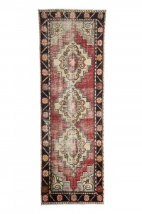 Turkish Rug Runner Used Vintage Turkish Rug Runner 87,261